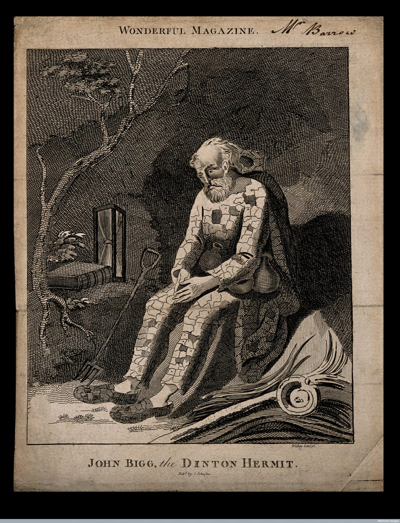 John Bigg: The Dinton Hermit (aus: Wonderful Magazine and Marvellous Chronicle, London 1793)
